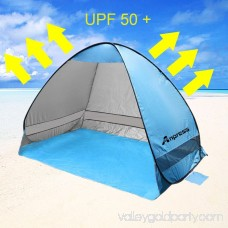 Automatic Pop Up Instant Portable Outdoors Beach Tent, UV Protection Sun Shelter