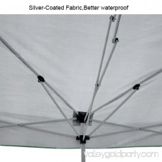 Quictent Easy Pop Up Canopy Instant Canopy Tent 10x10 Feet Heavy duty Height adjustable waterproof Green