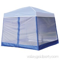 Z-Shade 10 Foot Angled Leg Screenroom Patio Shelter, Blue (Canopy Not Included)
