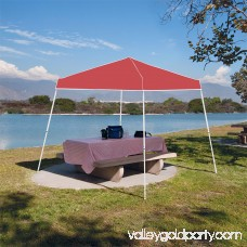 Z-Shade 10' x 10' Angled Leg Instant Shade Canopy Tent Portable Shelter, Red