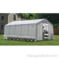 GrowIt Heavy Duty Walk-Thru Greenhouse Peak-Style, 12' x 20' x 8'   554795715