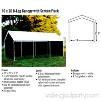 Max AP 2-in-1 Canopy Pack 10' x 20' with Screen Enclosure Kit   554797757