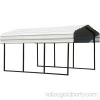 Steel Carport 10 x 15 x 7 ft. Black/Eggshell 569719760