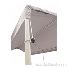 True Shelter 10' x 20' 6 Legs Powder Coated Canopy 554813639