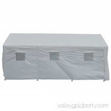True Shelter Hercules 10 x 20 Foot 8 Leg Universal Carport Shelter, White