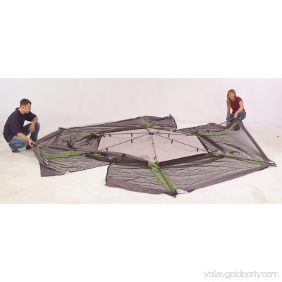 Coleman 15' x 13' Straight Leg Instant Screened Shelter (195 sq. ft Coverage) 552558980