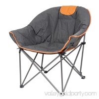 SunTime Sofa Chair, Oversize Padded Moon Leisure Portable Stable Comfortable Folding Chair for Camping, Hiking, Carry Bag Included