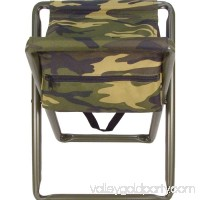 Woodland Camouflage - Military Deluxe Folding Stool with Pouch