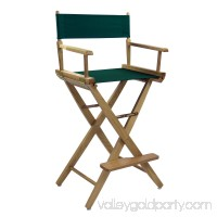 Extra-Wide Premium 30 Directors Chair Natural Frame W/Hunter Green Color Cover 563751144