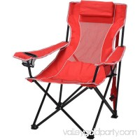 Ozark Trail Oversized Mesh Lounge Camping Chair with Cup Holders   553681026