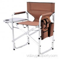 Stylish Camping Outdoor Folding Director's Chair w/ Full Back - BRN   564469566