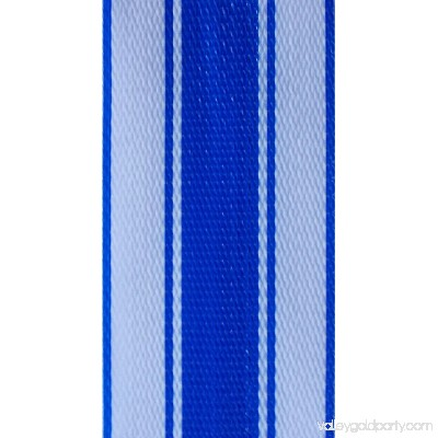 WebbingPro(TM) Lawn Chair Webbing Kit - Blue and White Stripe Lawn Chair Webbing 3 Inches Wide 50 Feet Long Roll and 30 Webbing Screws