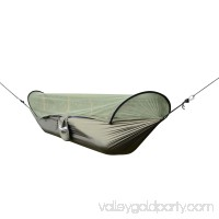 Outsunny Outdoor Camping Travel Hammock -With Screen/Dark Green