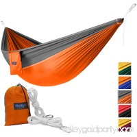 Yes4All Lightweight Double Camping Hammock with Carry Bag (Black)   566637616