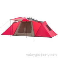 Ozark Trail 21' x 10' 3-Room Instant Tent with Awning, Sleeps 12, Red   554230055