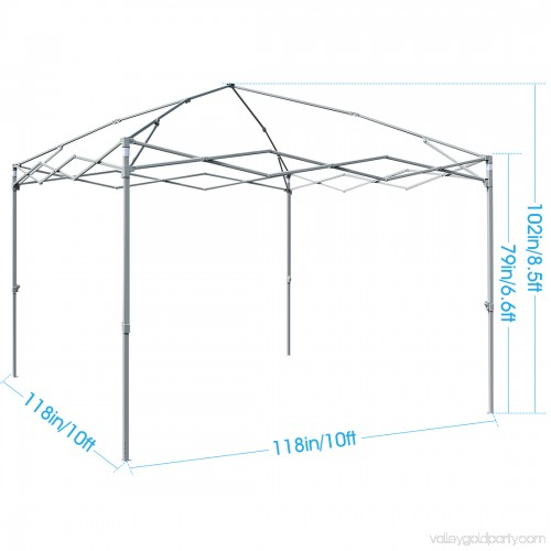 Quictent Privacy 10x10 EZ Pop Up Canopy Tent Instant Gazebo