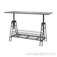 49 Mesa De Trabajo Adjustable Metal Work Table With Storage Basket