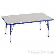 ECR4Kids 30 x 48 Rectangle Everyday T-Mold Adjustable Activity Table, Multiple Colors/Types 565352691