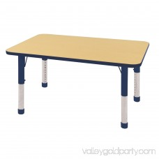 ECR4Kids 30 x 48 Rectangle Everyday T-Mold Adjustable Activity Table, Multiple Colors/Types 565360880