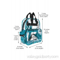 DALIX Small Clear Backpack Transparent PVC Security Security School Bag in Mint Green