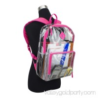 Eastsport Multi-Purpose Clear Backpack with Front Pocket, Adjustable Straps and Lash Tab   567669649