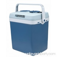 Knox 34 Quart Electric Cooler/Warmer with Dual AC and DC Power Cords (Blue)
