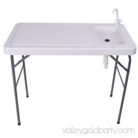Costway 45'' Rectangular Folding Table