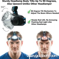 LED Headlamp Flashlight with Red Lights for Running, Camping, Reading, Kids