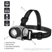 Stalwart 7-LED Headlamp with Adjustable Strap   554019299