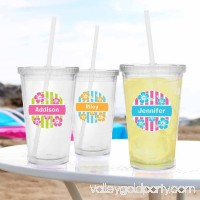 Personalized Island Flowers Tumbler, Available in 3 Colors 555435939