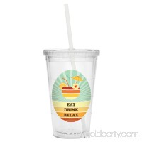 Personalized Retro Beach Tumbler - Drink   567299656