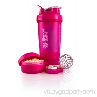 BlenderBottle 22oz ProStak Shaker with 2 Jars, a Wire Whisk BlenderBall and Carrying Loop FC Pink   553888595