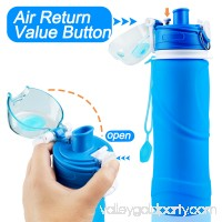 Collapsible Water Bottle Silicone Refillable Bottle for Travel Sport Cycling   569842379