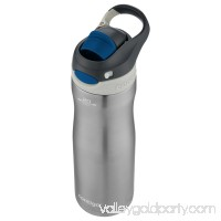 Contigo AUTOSPOUT Chug Chill Water Bottle, 20 oz., Stainless Steel/Scuba Lid   567425258