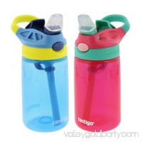 Contigo Kids Autospout Gizmo Water Bottle, 14oz (Persian Green/Chartreuse) - 2 Pack