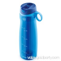 Pogo BPA-Free Plastic Water Bottle with Flip Straw   556107587