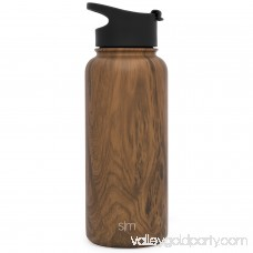 Simple Modern 22 oz Summit Water Bottle + Extra Lid - Vacuum Insulated Powder Coated Swell Sweet Tea 18/8 Stainless Steel Flask - Hydro Travel Mug - Sandstone 567920460