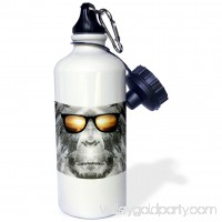 3dRose Bigfoot In Shades Bigfoot or Sasquatch is pictured in style wearing sunglasses, Sports Water Bottle, 21oz 550527003