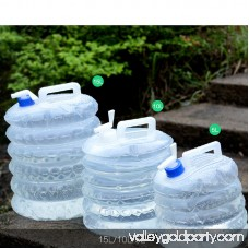 Outdoor Collapsible Foldable Water Container Camping Emergency Survival Water Storage Carrier Bag with Tap Volume:15L