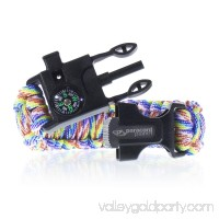 Paracord Planet Survival Adult Paracord Bracelets ? Comes with Flint, Firestarter, Whistle, Compass & Knife/Scraper ? Stay Safe Camping, Hiking, Fishing, in the Wilderness, & More