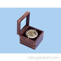 Solid Brass Lifeboat Compass w/ Rosewood Box 7''