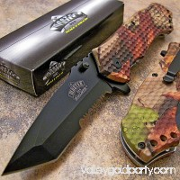Master FALL CAMO Tanto Spring Assisted Opening Hunting Pocket Folding Knife NEW