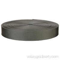 1 Inch Grey Lite Weight Nylon Webbing Closeout