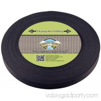 Country Brook Design® 5/8 Inch Black Heavy Polypropylene (Polypro) Webbing
