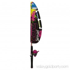 Splash Junior Spincasting Combo with 48 Fiberglass Rod, Pink, for Ages 7-12 554872782