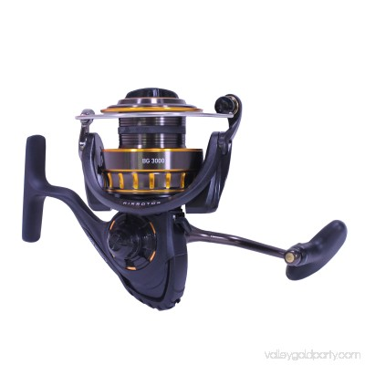 Daiwa BG Saltwater Spinning Reel 3000, 5.6:1 Gear Ratio, 6+1 Bearings, 37.10 Retrieve Rate, 15.40 lb Max Drag 556484815