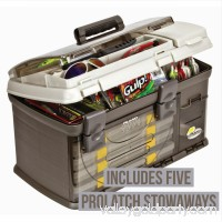 Plano Fishing Guide Series Five Utility Pro System Tackle Box, Graphite/Sandstone   550404722