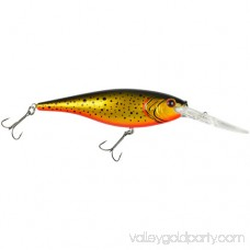 Berkley Flicker Shad Hard Bait 3 1/2 Length, 11'-13' Swimming Depth, 2 Hooks, Racy Shad, Per 1 553146510