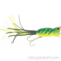 G760 Arbogast Hula Popper 3/8 oz Fire Tiger Fishing Lure