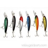 LotFancy 12 PCS 3.6 Inches Fishing Lures Crankbaits Hooks Minnow Baits Tackle